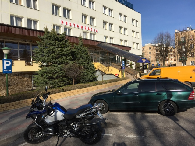 I stayed at the Hotel Wodnik in Gizycko.